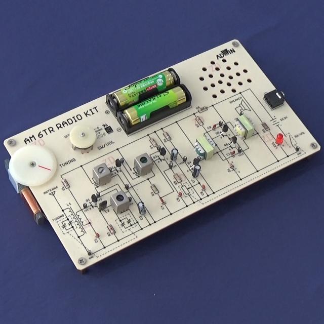 キットで遊ぼう電子回路シリーズ10:6石AMラジオ編