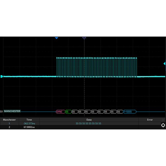 SDS5000X シリーズ オプション マンチェスターデコード機能